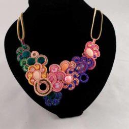 Collar 103 soutache multicolor