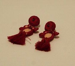 Pendientes 171 soutache rojo